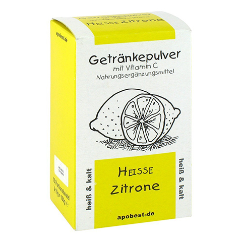 HEISSE Zitrone Getränkepulver mit Vitamin C 10x10 Gramm
