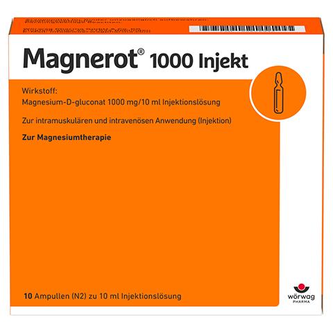 MAGNEROT 1000 Injekt Ampullen 10x10 Milliliter N2