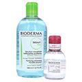 BIODERMA Sebium H2O Reinigungslösung + gratis BIODERMA Mizellen Reinigungslösung 500 Milliliter