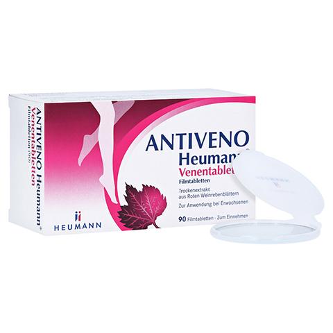 ANTIVENO Heumann Venentabletten + gratis Heumann Taschenspiegel 90 Stück