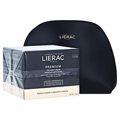 LIERAC Premium seidige Creme 18 + gratis Lierac Kosmetiktasche 50 Milliliter