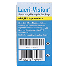 Lacri Vision 10 Milliliter - Rückseite