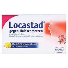 Locastad gegen Halsschmerzen 2mg/0,6mg/1,2mg Honig/Zitrone 24 Stück N1 - Vorderseite