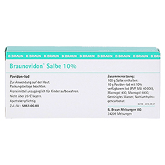 Braunovidon 10% 20 Gramm N1 - Rückseite