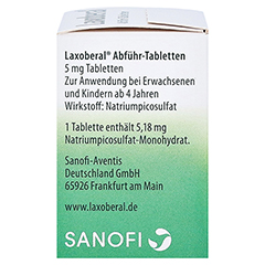 Laxoberal Abführ-Tabletten 5mg 50 Stück N3 - Linke Seite
