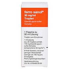 Ferro sanol 30mg/ml 30 Milliliter N1 - Rückseite