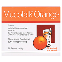 Mucofalk Orange Beutel 20 Stück N1 - Vorderseite