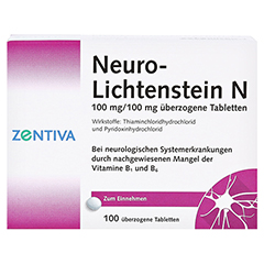 Neuro-Lichtenstein N 100 Stück N3 - Vorderseite