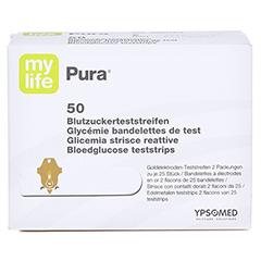 Mylife Pura Blutzucker Teststreifen 50 Stück - Vorderseite