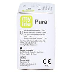 Mylife Pura Blutzucker Teststreifen 50 Stück - Linke Seite