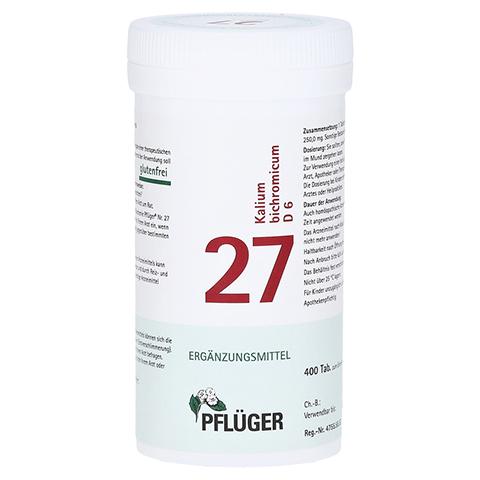 BIOCHEMIE Pflüger 27 Kalium bichromicum D 6 Tabl. 400 Stück N1