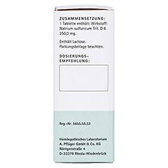 BIOCHEMIE Pflüger 10 Natrium sulfuricum D 6 Tabl. 100 Stück N1 - Linke Seite