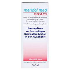 Meridol med CHX 0,2% Lösung zur Anwendung in der Mundhöhle 300 Milliliter - Vorderseite