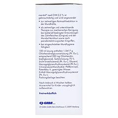 Meridol med CHX 0,2% Lösung zur Anwendung in der Mundhöhle 300 Milliliter - Rechte Seite