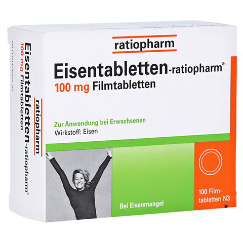 Eisentabletten-ratiopharm 100mg 100 Stück N3