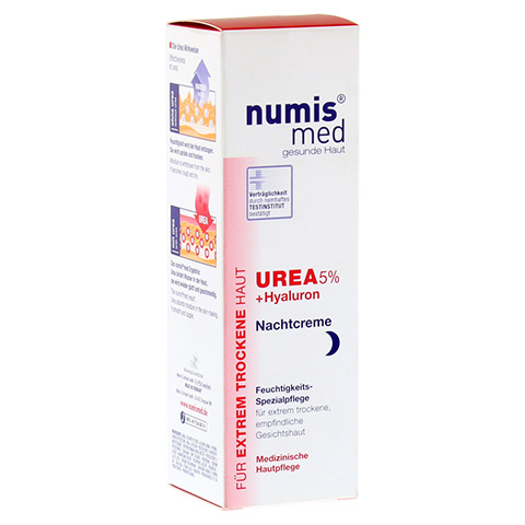 NUMIS med Urea 5% Nachtcreme+Hyaluron 50 Milliliter