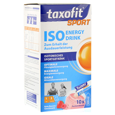 TAXOFIT Sport Iso Energy Drink rote Beeren Port.B. 10 Stück