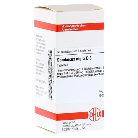SAMBUCUS NIGRA D 3 Tabletten 80 Stück N1