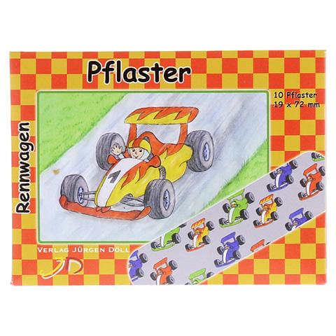 KINDERPFLASTER Rennwagen Briefchen 10 Stück