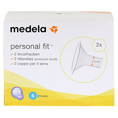 MEDELA Personal Fit Brusthaube Gr.S 2 St 1 Packung - Vorderseite