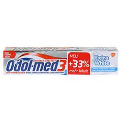 ODOL MED 3 Extra White Zahnpasta 100 Milliliter - Vorderseite