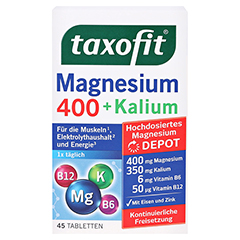 TAXOFIT Magnesium 400+Kalium Tabletten 45 Stück - Vorderseite