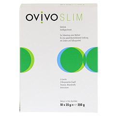 OVIVO SLIM Diätdrink Vanille Pulver 10x35 Gramm - Vorderseite