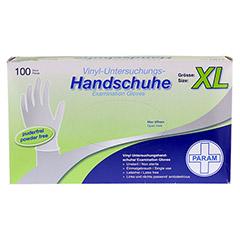 HANDSCHUHE Einmal Vinyl puderfrei XL 100 Stück - Vorderseite