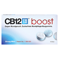 CB12 boost Kaugummi 10 Stück - Vorderseite