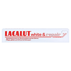 LACALUT white & repair Zahncreme 75 Milliliter - Vorderseite