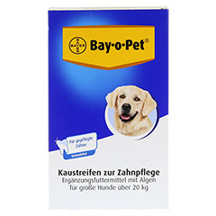 BAY O PET Zahnpfl.Kaustreif.f.gr.Hunde 140 Gramm - Vorderseite