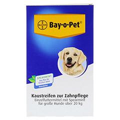 BAY O PET Zahnpfl.Kaustreif.Spearmint f.gr.Hunde 140 Gramm - Vorderseite