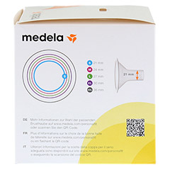 MEDELA Personal Fit Brusthaube Gr.S 2 St 1 Packung - Linke Seite