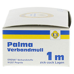 PALMA Verbandmull 80 cm 1 m zickzack Lagen 1 Stück - Linke Seite