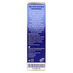 SNOREEZE Schnarchlinderung Nasenspray 10 Milliliter - Rechte Seite