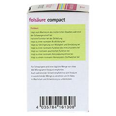 FOLSÄURE COMPACT Bio Tabletten 120 Stück - Rechte Seite