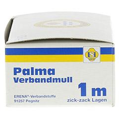PALMA Verbandmull 80 cm 1 m zickzack Lagen 1 Stück - Rechte Seite
