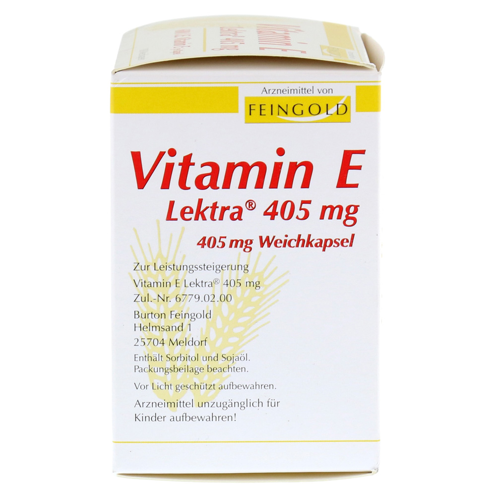 vitamin e lektra 405 mg weichkapseln 100 st ck online. Black Bedroom Furniture Sets. Home Design Ideas