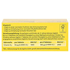 DEKRISTOLVIT D3 2.000 I.E. Tabletten 90 Stück - Rückseite