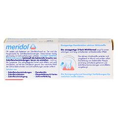 MERIDOL sanftes Weiss Zahnpasta 20 Milliliter - Rückseite