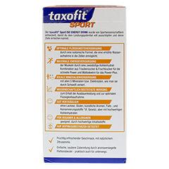 TAXOFIT Sport Iso Energy Drink Zitrus Portionsbtl. 10 Stück - Rückseite