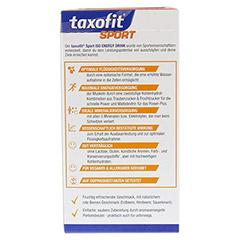 TAXOFIT Sport Iso Energy Drink rote Beeren Port.B. 10 Stück - Rückseite