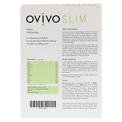 OVIVO SLIM Diätdrink Vanille Pulver 10x35 Gramm - Rückseite