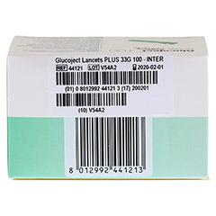 GLUCOJECT Lancets PLUS 33 G 100 Stück - Rückseite