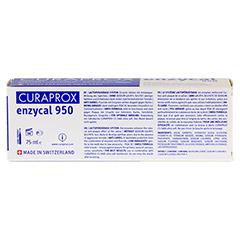 CURAPROX enzycal 950 Fluorid extra milde Zahnpasta 75 Milliliter - Rückseite