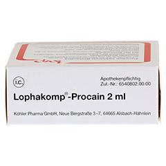 LOPHAKOMP Procain 2 ml Injektionslösung 10x2 Milliliter N1 - Oberseite