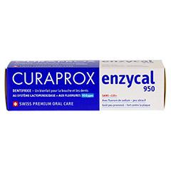 CURAPROX enzycal 950 Fluorid extra milde Zahnpasta 75 Milliliter - Oberseite