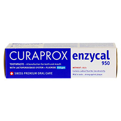 CURAPROX enzycal 950 Fluorid extra milde Zahnpasta 75 Milliliter - Unterseite