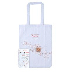 Avène Set Thermalwasser Spray 150 ml + 5 Tuchmasken + gratis Avène Happy 30 Tasche 1 Packung