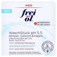 FREI ÖL WaschStück pH 5,5 Körper Gesicht Haare 90 Gramm - Vorderseite
